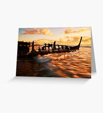 Dicky Morning Gold Greeting Card