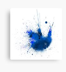 Splash Space Blue Canvas Print