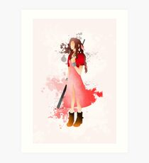 Final Fantasy 7: Aerith Gainsborough Giclee Art Print Art Print
