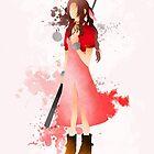 Final Fantasy 7: Aerith Gainsborough Giclee Art Print by paperheroes