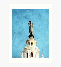 Watching Over the Plaza Art Print