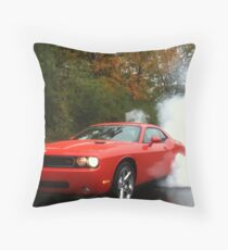 2010 Dodge Challenger R/T Burnout Throw Pillow