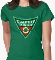 Green Arrow Logo Women's Fitted T-Shirt