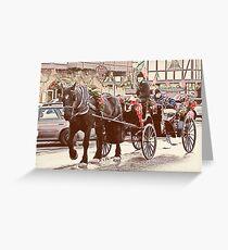 Horse-drawn Ride Greeting Card