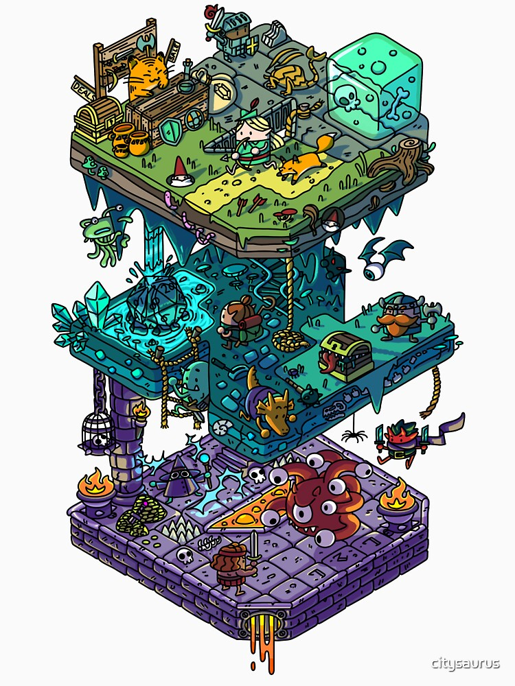 Dungeons and Isometric Dragons by citysaurus