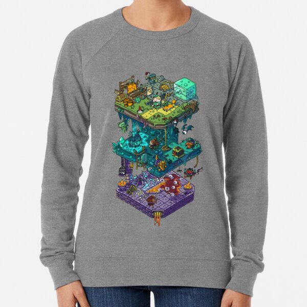 Dungeons and Isometric Dragons Lightweight Sweatshirt