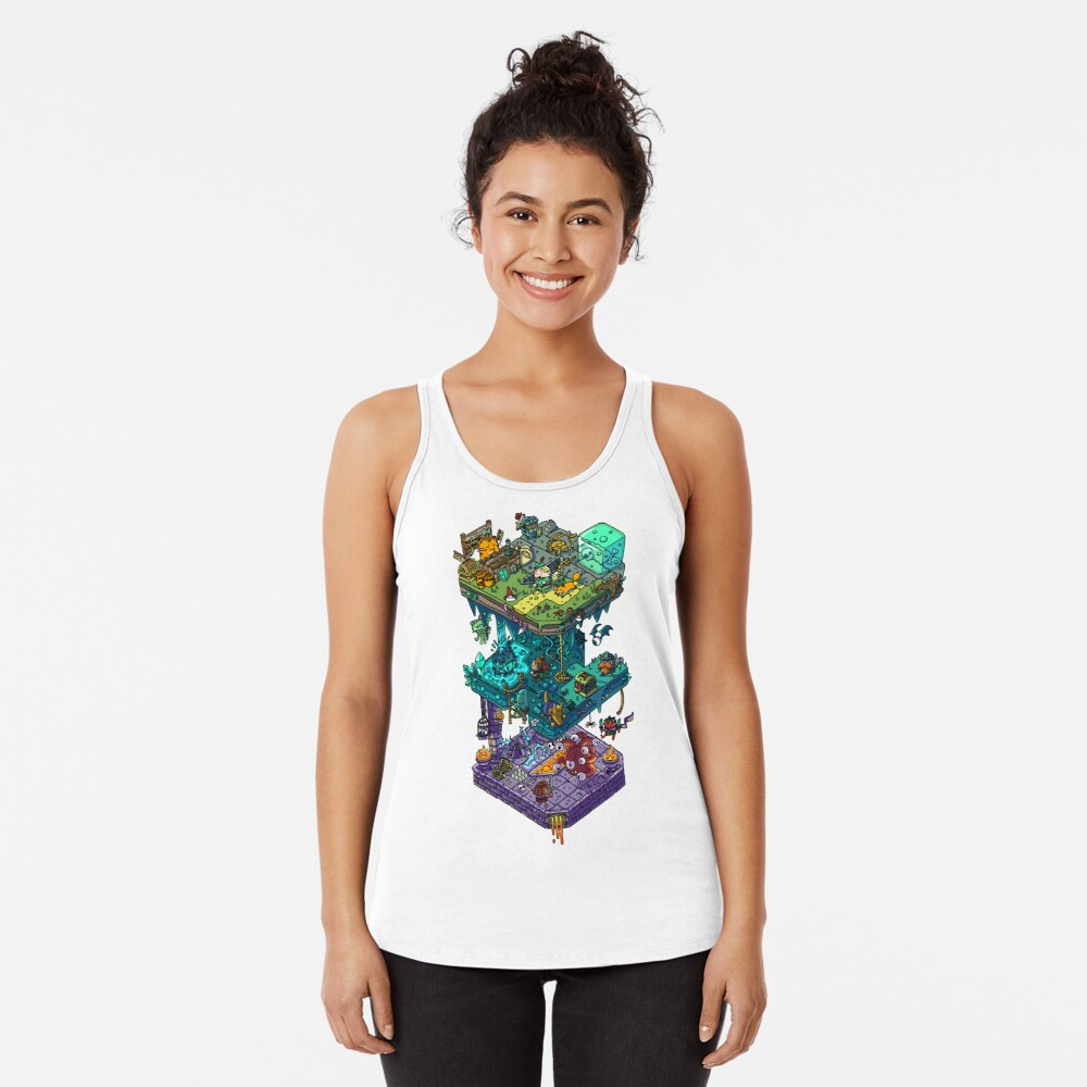 Dungeons and Isometric Dragons Racerback Tank Top