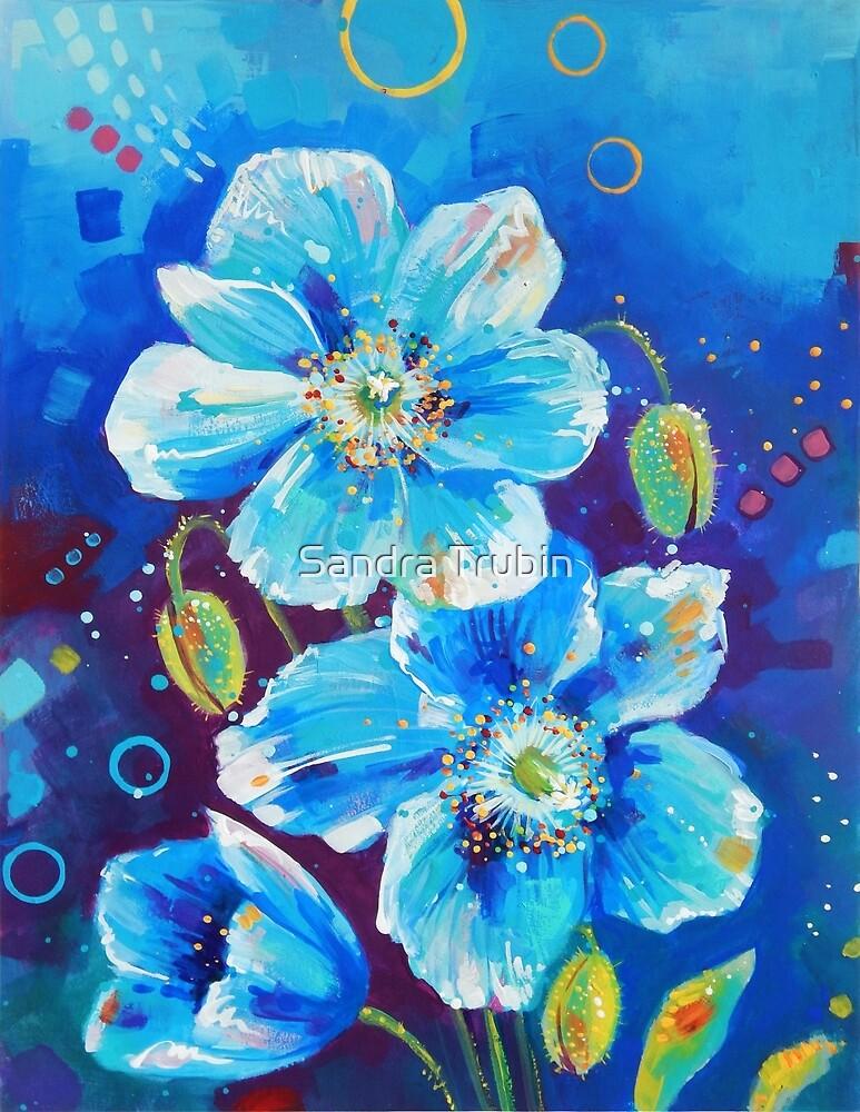 Blue Poppies by Sandra Trubin
