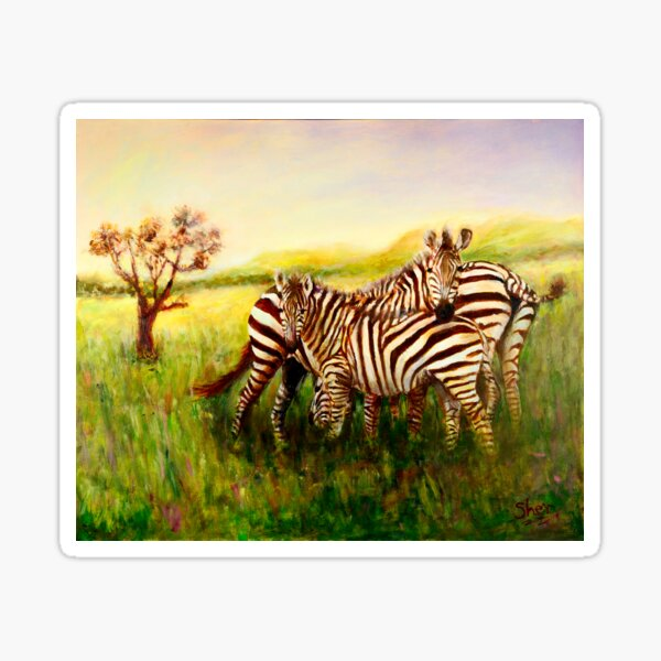Zebras at Ngorongoro Crater Sticker