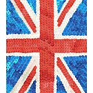 Sequinned effect Union Jack iphone cover by Amanda Latchmore