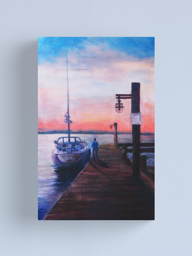 Alternate view of Sunset at Rocky Point Canvas Print