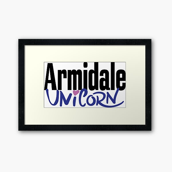 Armidale Unicorn New South Wales Australia Raised Me Framed Art Print