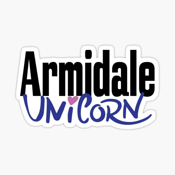 Armidale Unicorn New South Wales Australia Raised Me Sticker