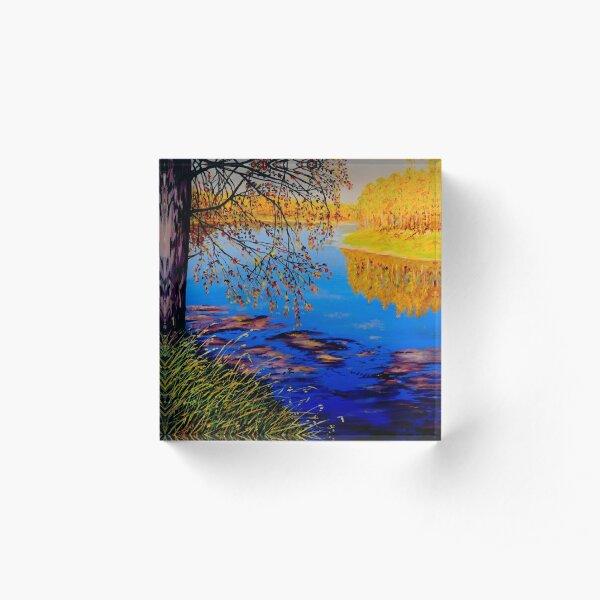 October Afternoon Acrylic Block