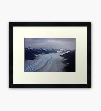 Glacier View from Helicopter Framed Print