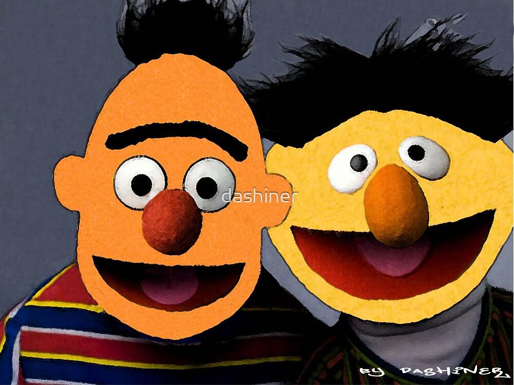 Bert and Ernie parallel universe Street Art by dashiner