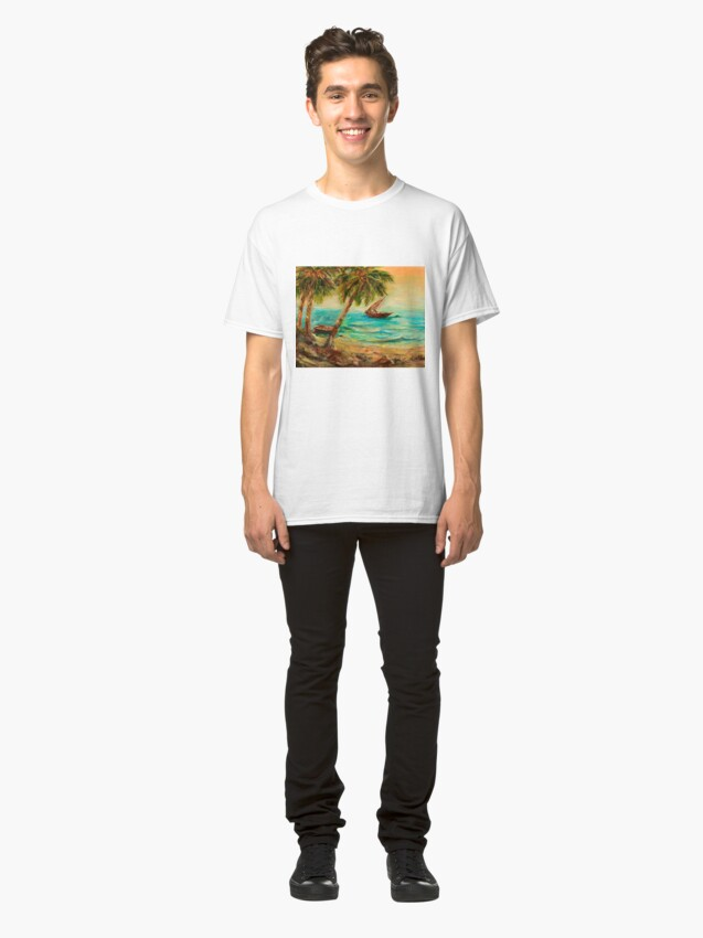 Alternate view of Sail boats on Indian Ocean  Classic T-Shirt