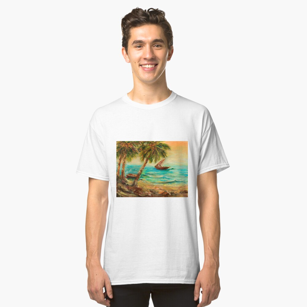 Sail boats on Indian Ocean  Classic T-Shirt