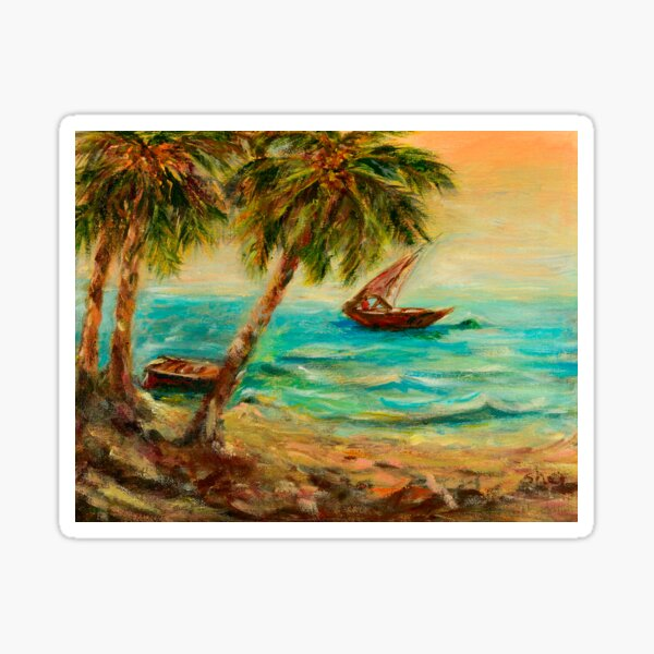 Sail boats on Indian Ocean  Sticker