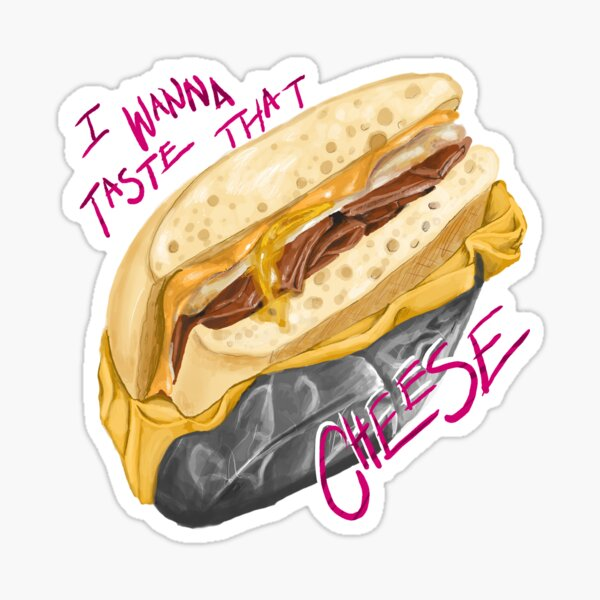 JE VEUX GOUTER CE FROMAGE Sticker