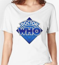 Doctor Who - Diamond Logo Blue gradient. Women's Relaxed Fit T-Shirt