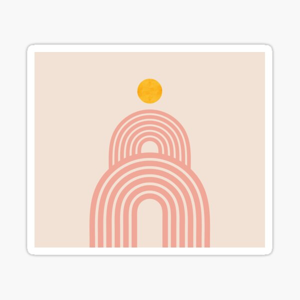 SUNRISE_SUNSET_LINE_VISUAL_ART_001 Sticker