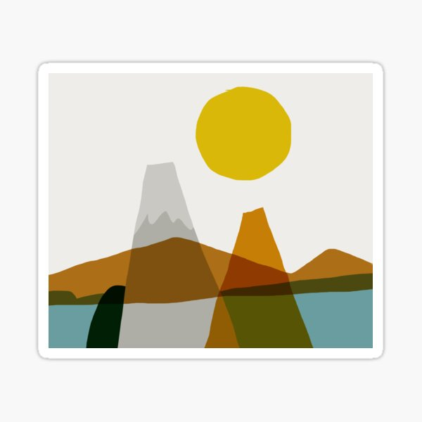 SUN_LANDSCAPE_LAKE_VISUAL_VIEW_ART Sticker