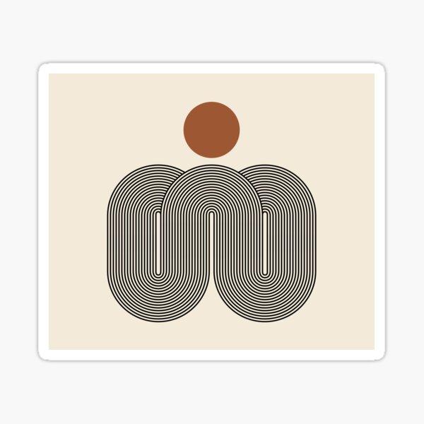 SUN_LINE_BOHEMIAN_ABSTRACTION_DOT_VISUAL_ART_002 Sticker
