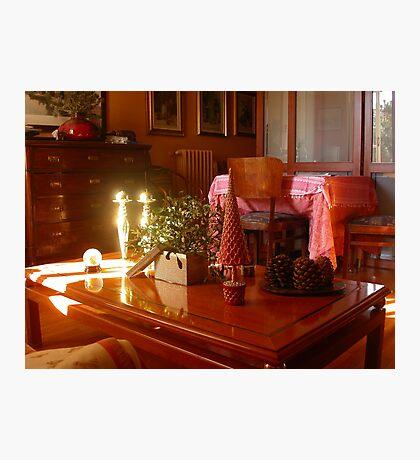 Un raggio di sole...un ramo di vischio...un tavolino. 2500 visualizzaz a gennaio 2013...FEATURED RB EXPLORE 1 NOVEMBRE 2011... Photographic Print