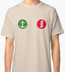 Green Anchor, Red Waterfall Classic T-Shirt