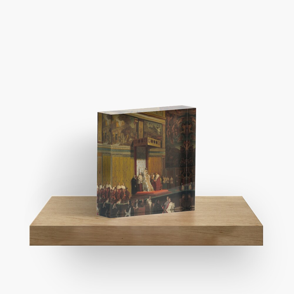 Pope Pius VII in the Sistine Chapel Oil Painting by Jean-Auguste-Dominique Ingres Acrylic Block