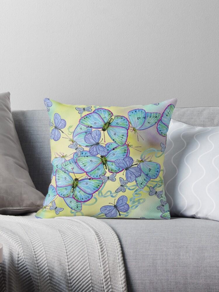 Blue Butterfly Swarm by DeniFreeman