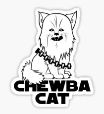 Chewba Cat Sticker