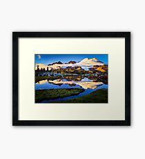 Mount Baker Sunset Framed Print