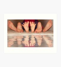 Feet delight Art Print
