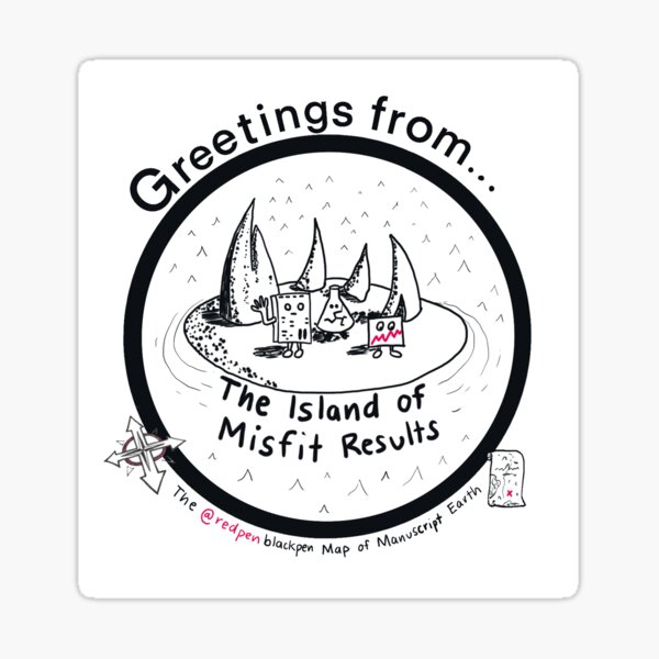 The Island of Misfit Results Sticker