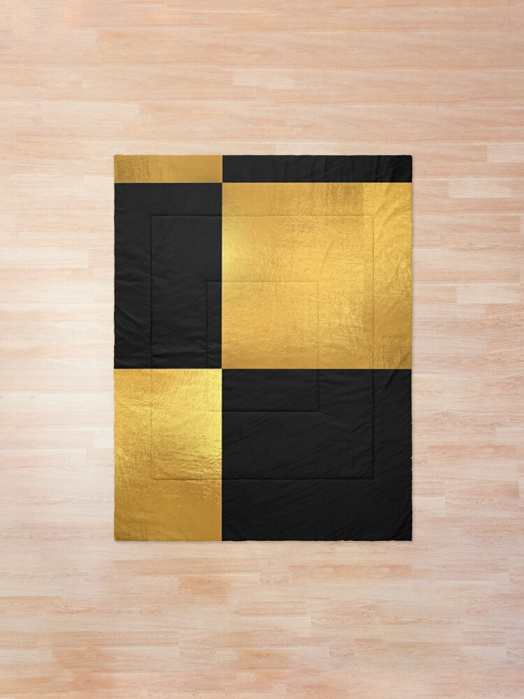 Black And Gold Comforter By Cshim1 Redbubble