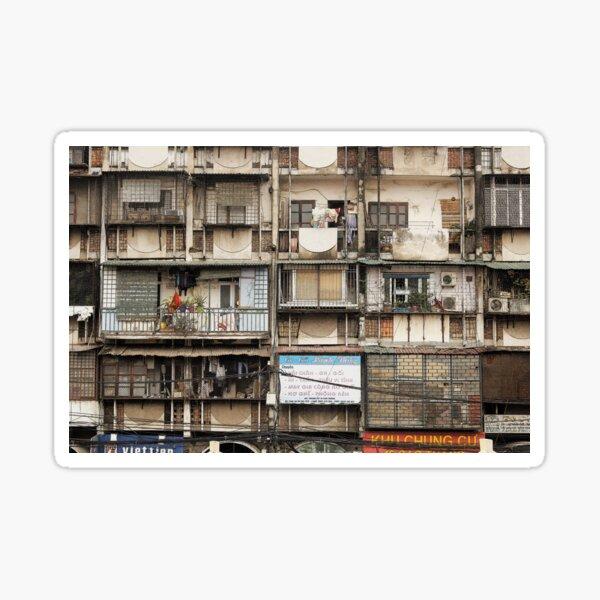 Architecture and houses, Hanoi Vietnam Sticker