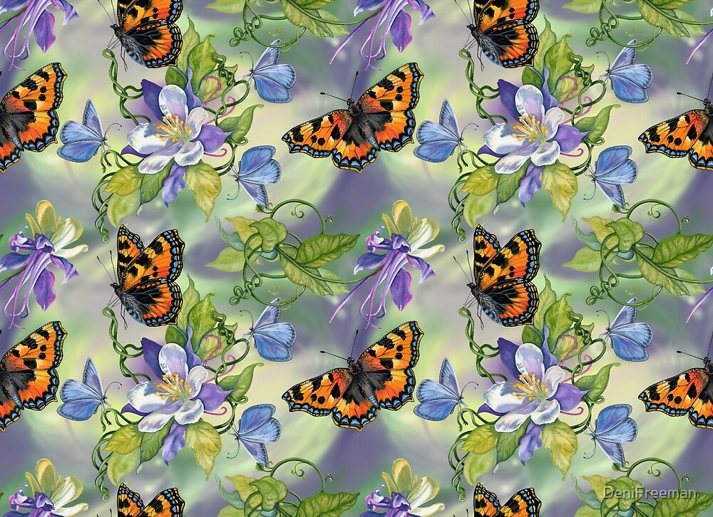 Columbine Butterflies by DeniFreeman
