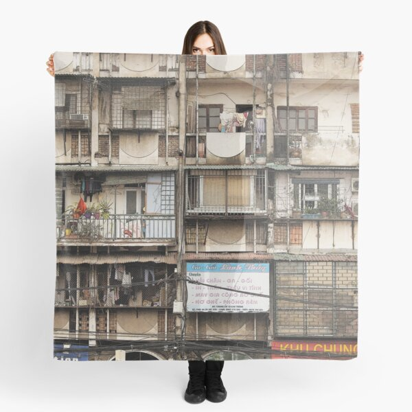 Architecture and houses, Hanoi Vietnam Scarf