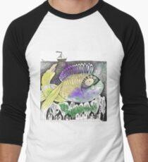 Underwater Town Men's Baseball ¾ T-Shirt