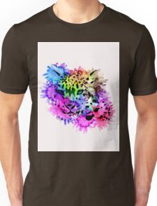 Bright Colorful Watercolor Snow Leopard Unisex T-Shirt