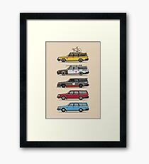 Stack of Volvo 200 Series 245 Wagons Framed Print