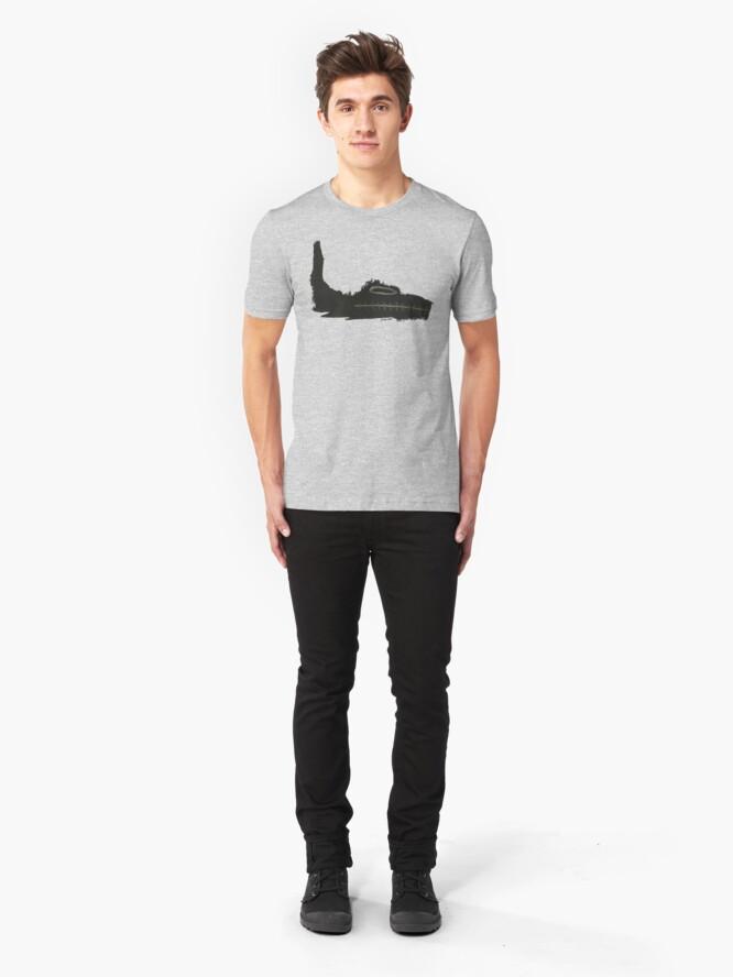 T-shirt ajusté ''CROCRO': autre vue