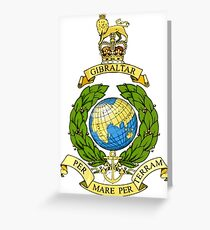 Royal Marines Emblem Greeting Card