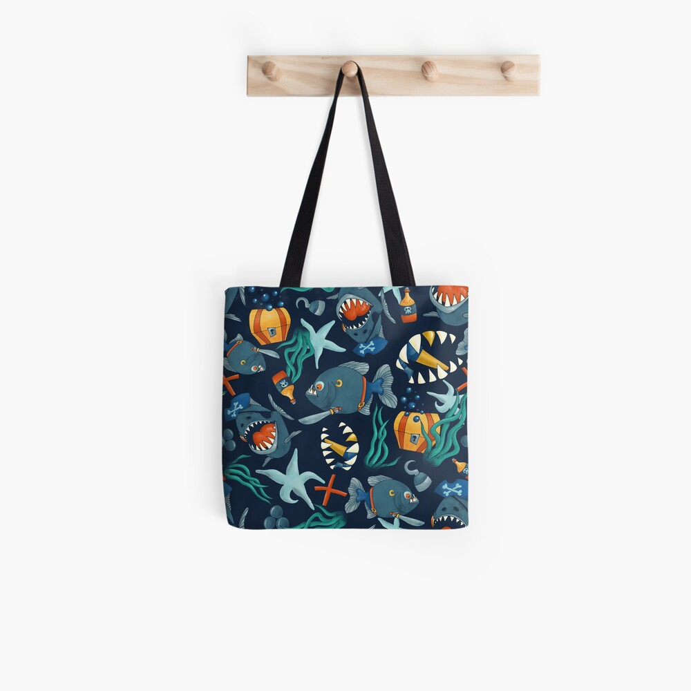 Pirate piranhas Tote Bag