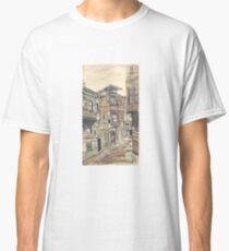 watercolor wash street Classic T-Shirt