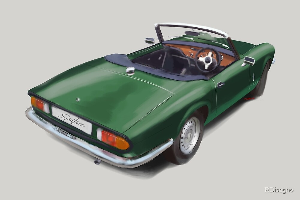Triumph Spitfire Racing Green by RDisegno