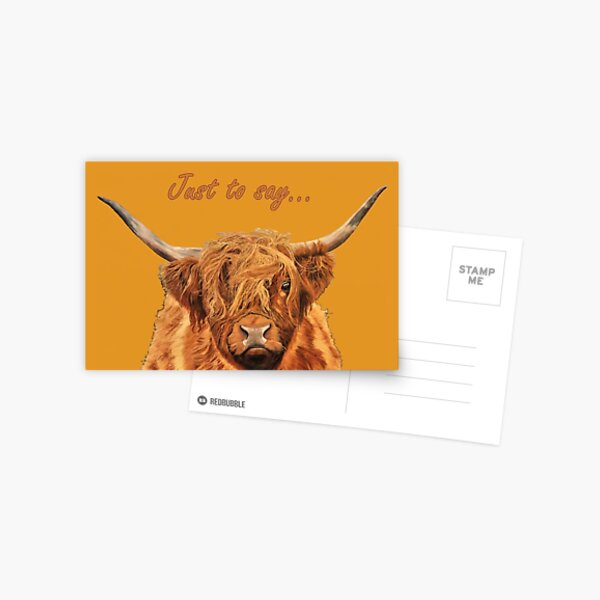 Highland Cow - Looking at You - Just to Say Card Postcard