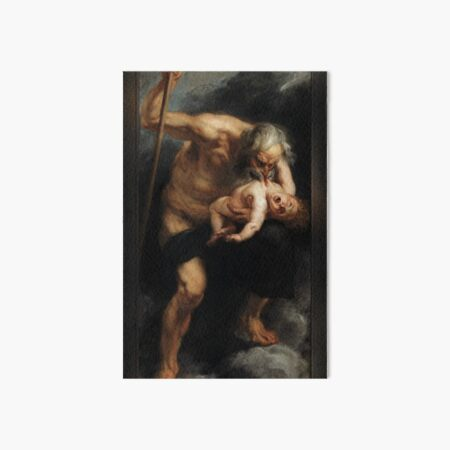 Saturn Devouring One Of His Sons by Peter Paul Rubens Old Masters Reproduction Art Board Print
